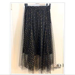 Anthropology Eva Franco Tulle and Sparkle Skirt